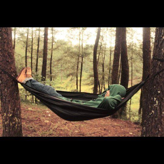 Enjoy your life .. .. .. .. #hammocklife #salamgantung #instalike #hutanpinus #like4like #instaday #hammockcamping by @armin_amming