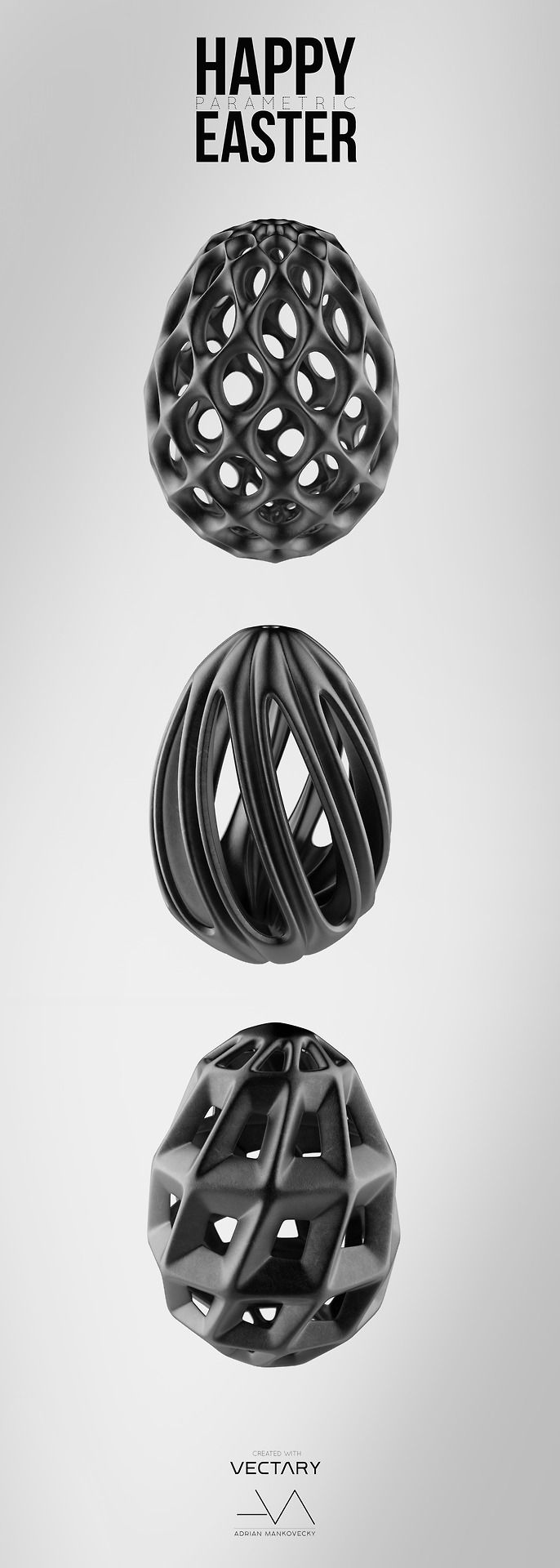 Happy parametric Easter!  Created by Adrian Mankovecky with our online 3D modeling tool VECTARY