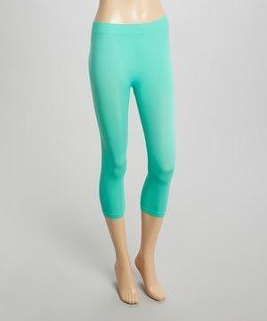 Mint Capri Leggings (Sizes 12-18) - LEG815MT