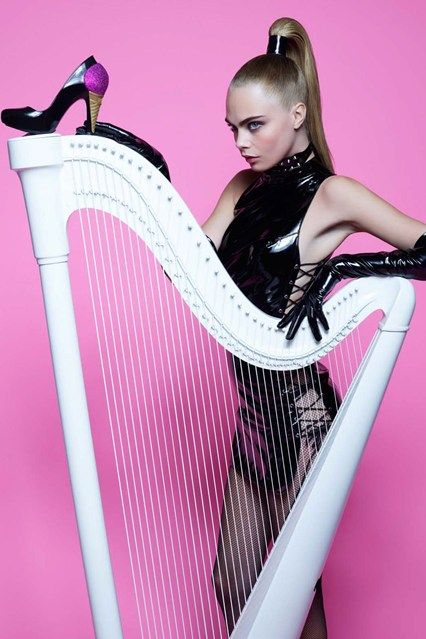 Karl Lagerfeld photographs Cara Delevingne modelling his Melissa collection