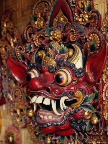 Center of mask carving Mas near Ubud Bali, Indonesia