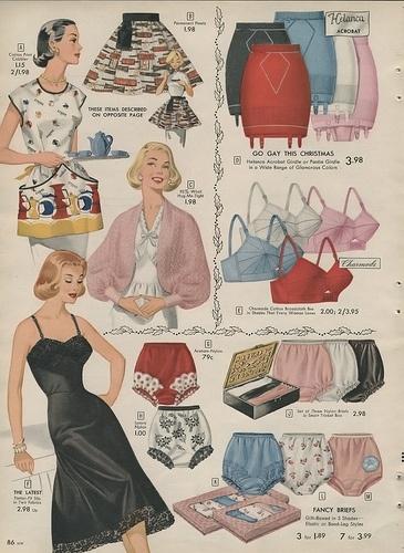 1957 Simpsons Sears Christmas Catalog Vintage Lingerie