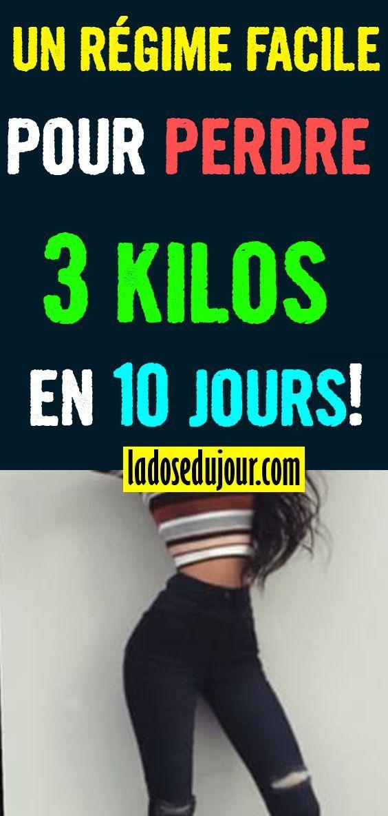 un régime facile pour perdre 3 kilos en 10 jours (avec