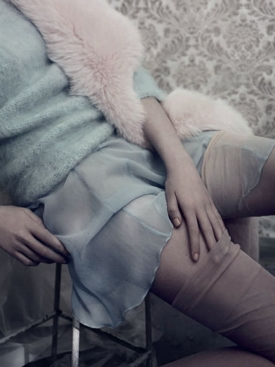 By Photographer Paolo Roversi For Vogue Italia, September, 2013 / Frou Frou Fashionista Luxury Lingerie Tumblr