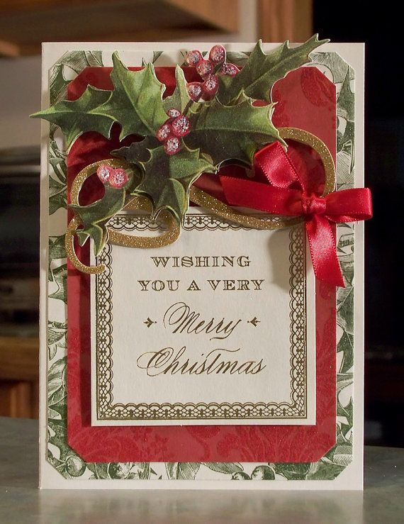 Handmade Christmas Card using Anna Griffin by WhimsyArtCards