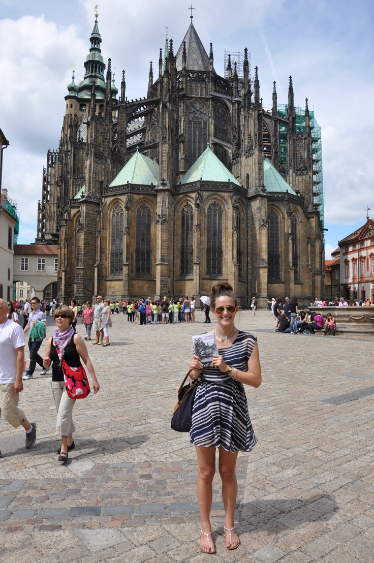 Bootlicker in the hands of Jade Ryan at St. Vitus Cathedral in Prague, capital of the Czech Republic.