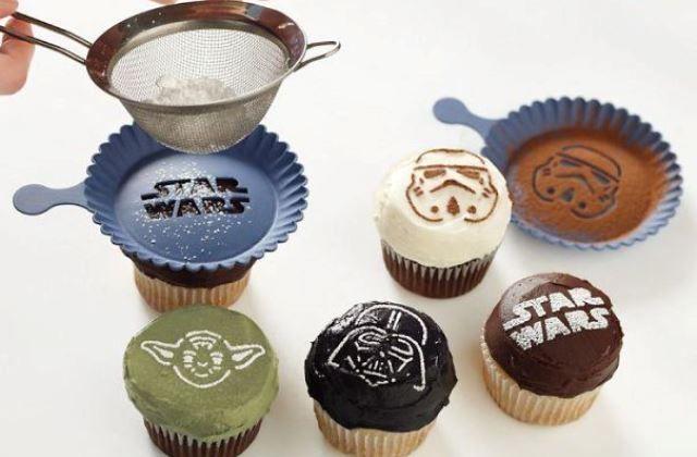 Csillagok háborúja muffin díszítő
