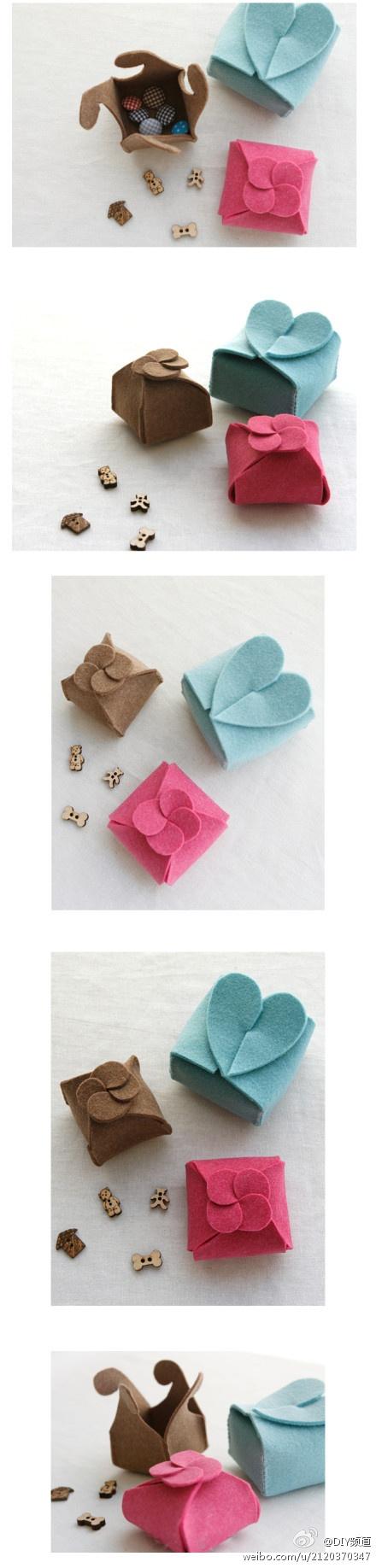 gift boxes of felt