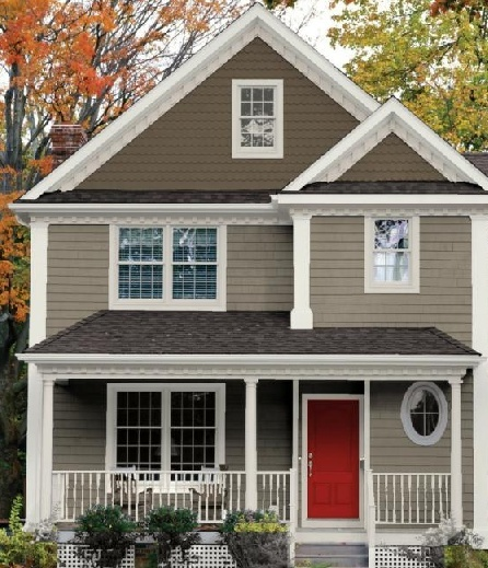 35 best images about what paint with tan roof on Bold house colors