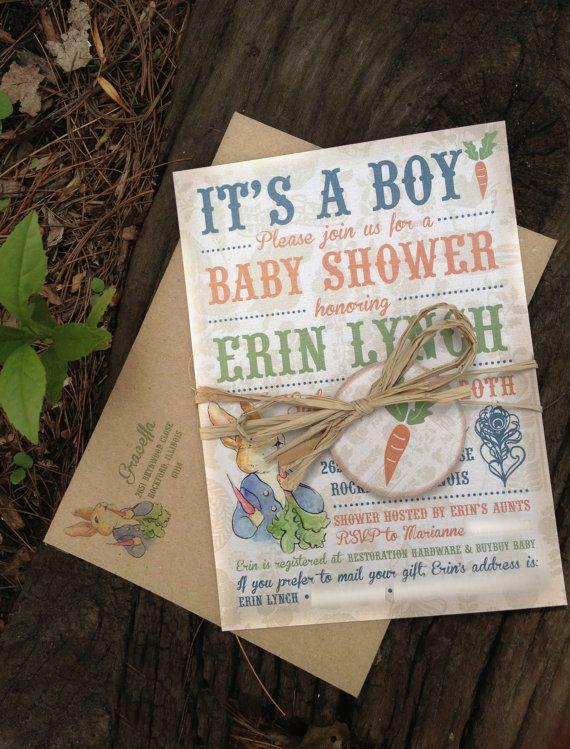 Peter Rabbit Baby Shower Invitation By Imaginationpad On Etsy, $25.00