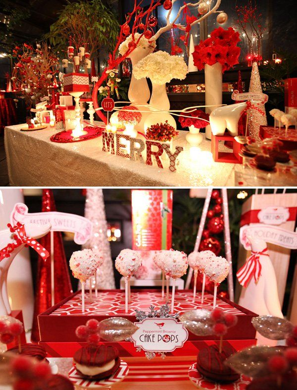 In continuing with the new Mod & Merry Peppermint Twist theme posted earlier today, here we go with Part 2 - the Starbucks Holiday Event in NYC!