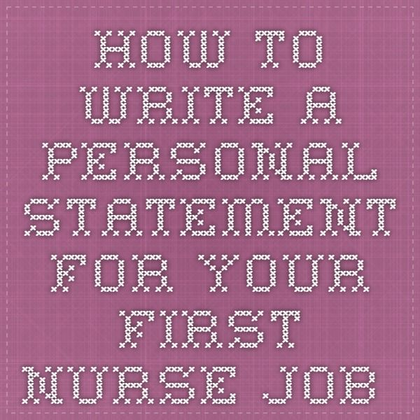 Your nursing personal statement could be the difference between getting your first nurse job and just missing out, so make sure yours is as good as it can be. http://www.nurses.co.uk/nursing/careers-advice/how-to-write-a-nursing-personal-statement-for-your-first-nurse-job-application