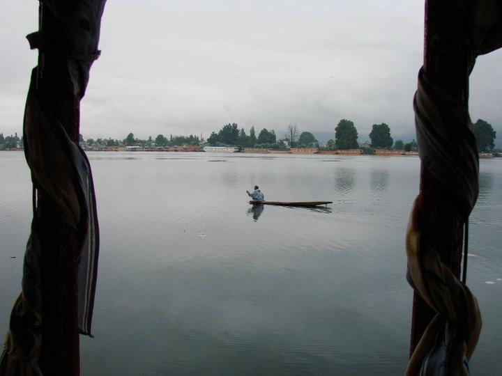 Shikara on the Nagin Lake, Srinagar, Kashmir