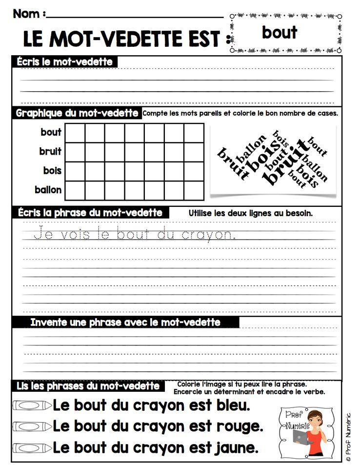 SIGHT WORDS IN FRENCH-Les mots d'orthographe devant être connus des élèves de 2e année du primaire se retrouvent dans ce produit numérique (liste du MELS 2014). Dans des activités répétitives, les élèves seront autonomes à réaliser ces courtes tâches afin d'assimiler rapidement les 31 noms que composent cet ensemble (lettres A à F).$