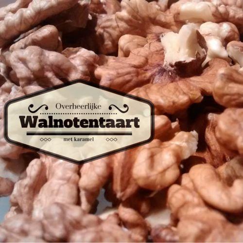 Overheerlijke walnotentaart met karamel. FODMAP-proof en lekker!