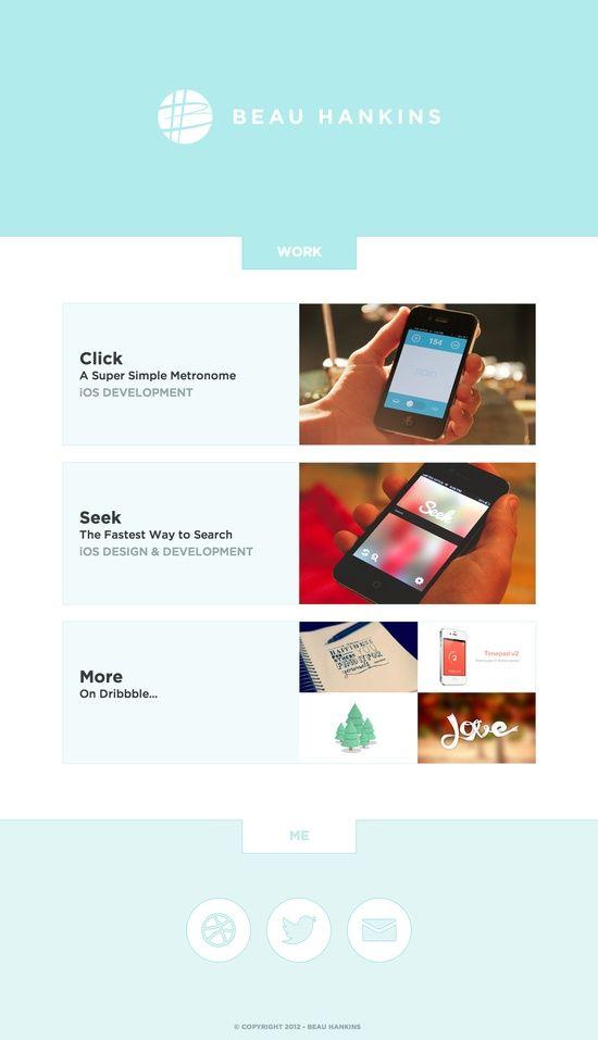 15 Stylish Examples of Portfolio Web Design   Inspiration...