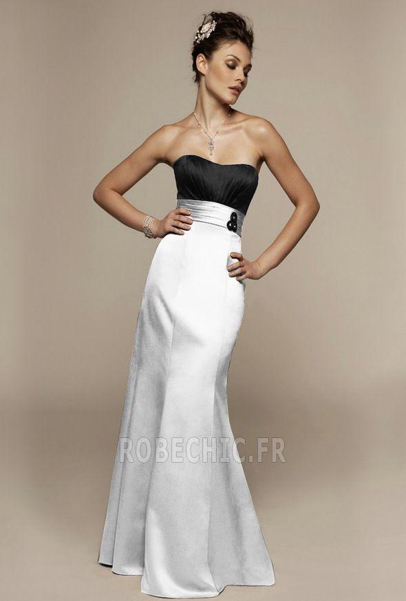 Robe Demoiselle d'Honneur Sans Manches Blanc Fourreau plissé Attrayant