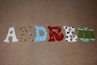 Andrew's nursery letters