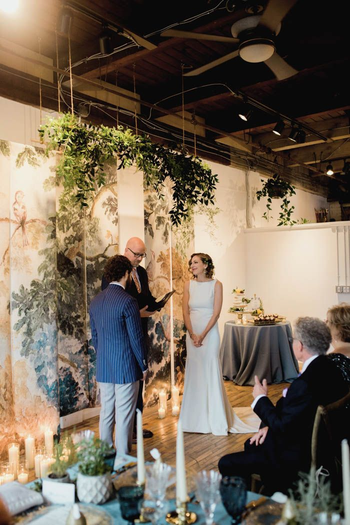 Natural meets industrial in this New York wedding | Image by Alixann Loosle Photography