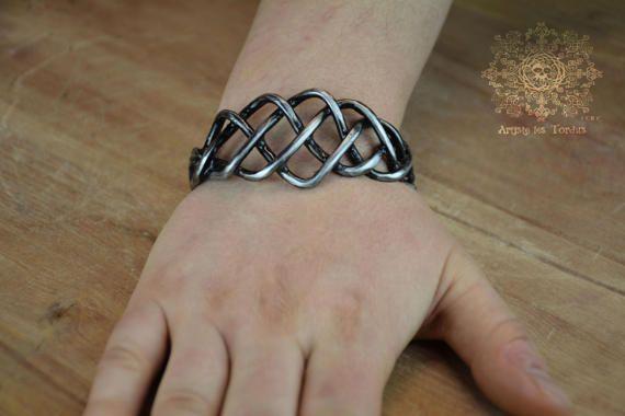 Unisexe Bracelet de métal tressé motif celtic-9