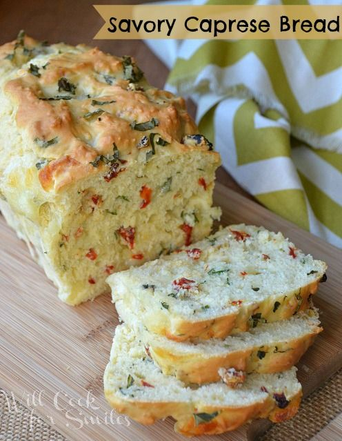 Savory Caprese Bread - Will Cook For Smiles