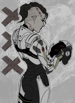 Fanart Sketch jack phantom mass effect mass effect 3 me3 Subject Zero cerberus jacqueline nought i love her too much atomicdraws psychotic biotic disclaimer: i would never ever ever let this happen to jack it's kinda winter soldier-y now that i think about it