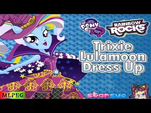 My Little Pony Equestria Girls Rainbow Rocks Trixie Lulamoon Dress Up Game