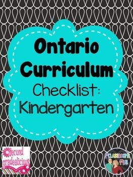 "This package includes a check list for term 1 and term 2 for the Ontario Kindergarten Curriculum.  This package can be used in addition to our ""Editable Teacher Binder"" to help you stay organized for the upcoming school year. Editable Teacher Binder"