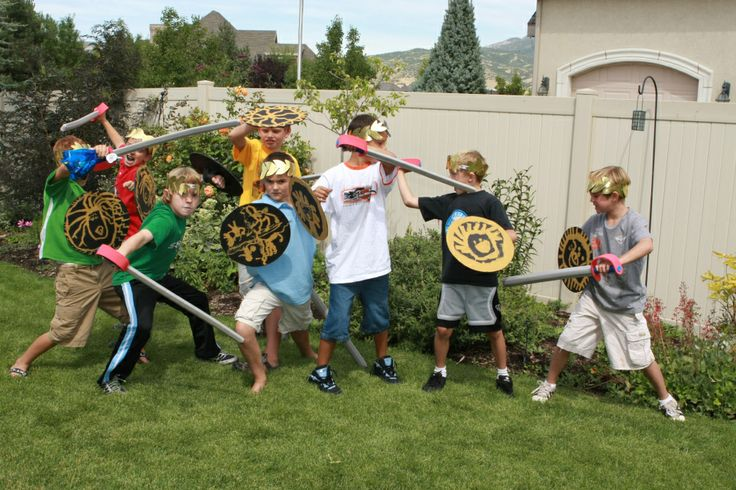 Percy Jackson & the Olympians party from Make it Do - shield painting