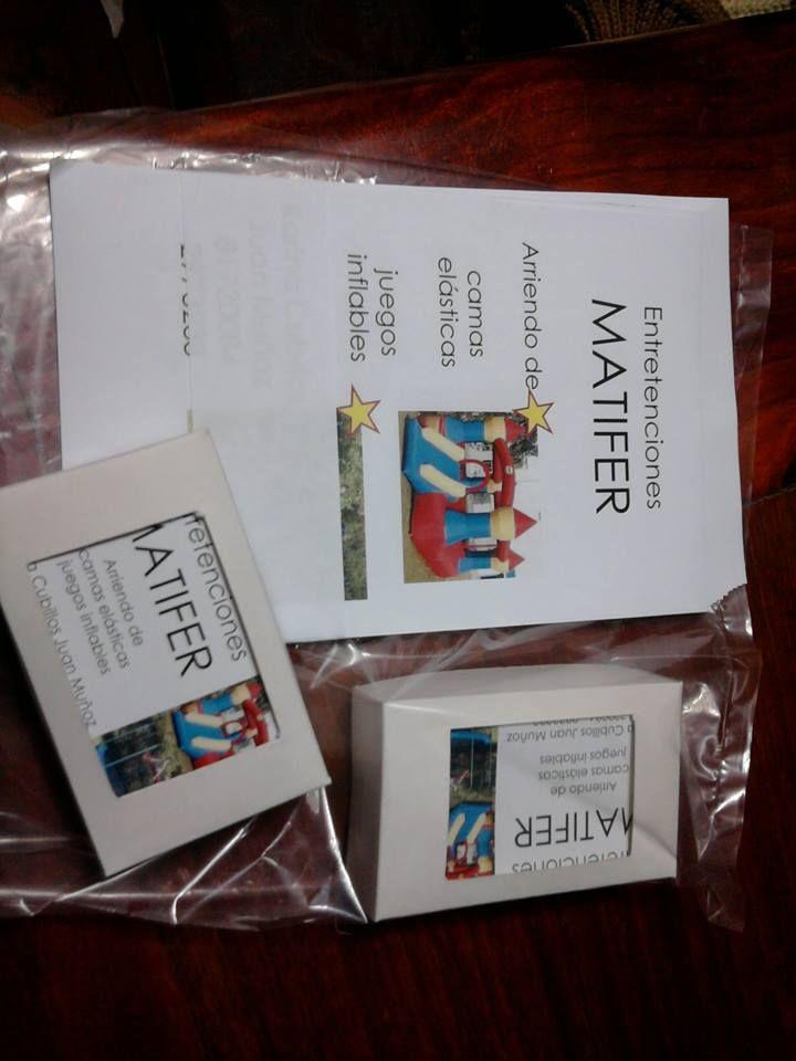 Volantes y 200 tarjetas de presentación Entretenciones MATIFER