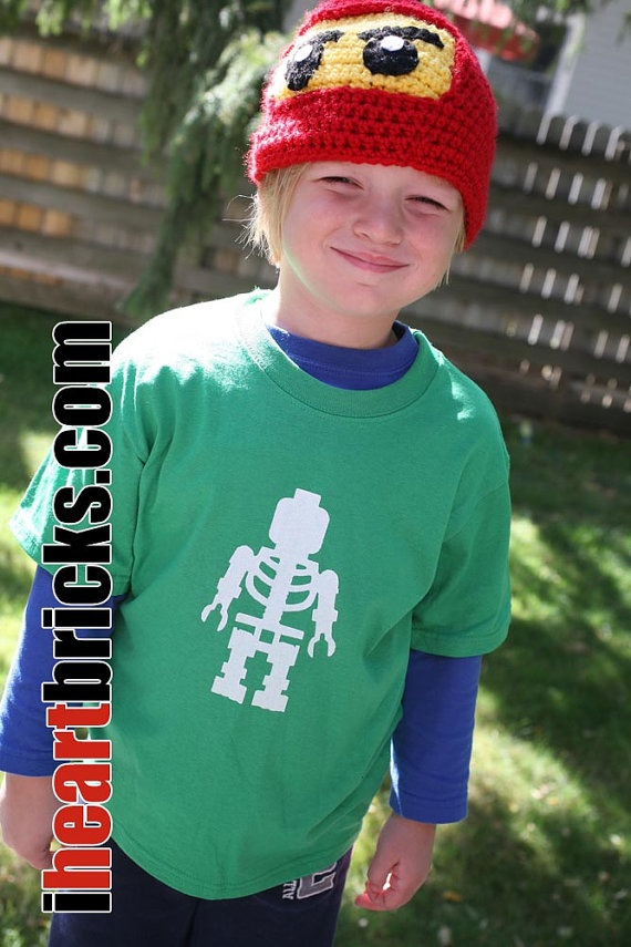 Skeleton Kids Tshirt by iHEARTbricks on Etsy, $15.00