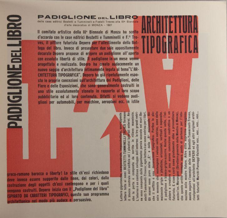 By Fortunato Depero, Depero Futurista, 1913-1927, Italian Futurtist Movement.