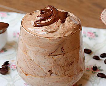 CREMA DI CAFFè ALLA NUTELLA ricetta dolce veloce senza cottura