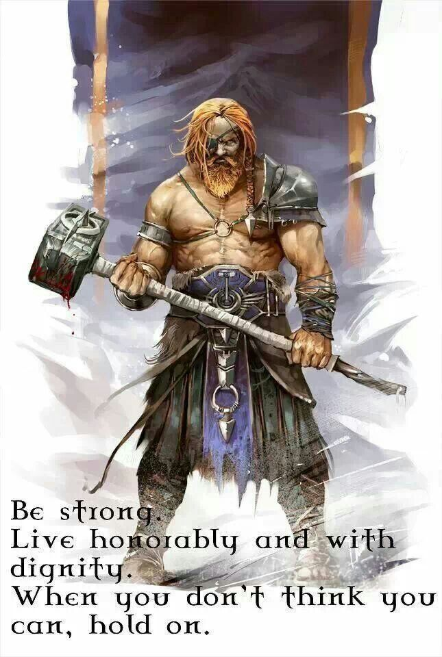 Be strong warrior