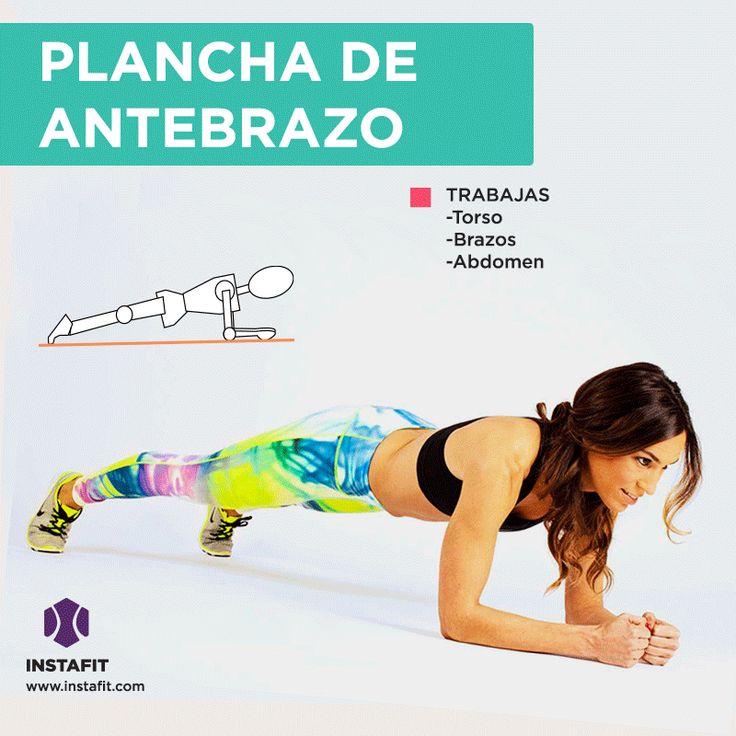 Plancha de antebrazo. Movimiento para trabajar torso, brazos y abdomen.