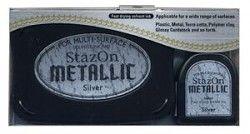 StazOn - inkoustová poduška / Silver