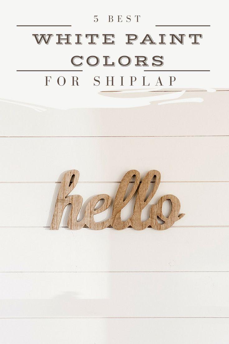 best white paint colors to paint shiplap   www.theharperhouse.com
