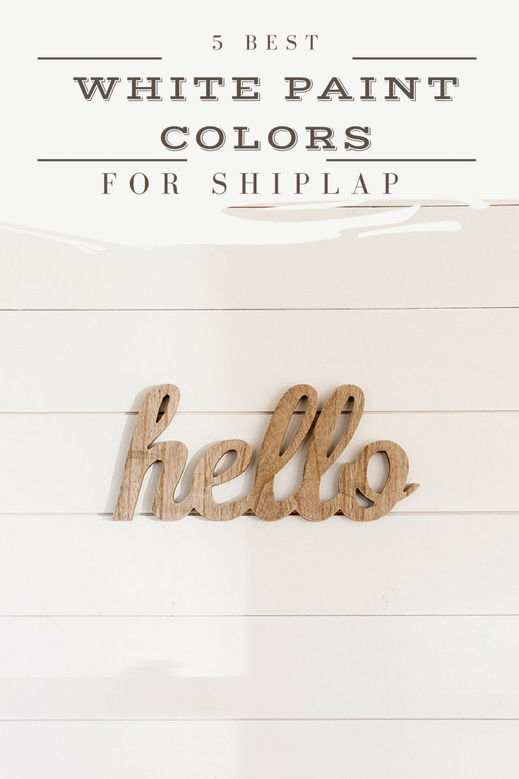 best white paint colors to paint shiplap | www.theharperhouse.com