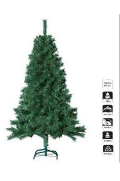 Sapin artificiel vert - 210 cm, Pied inclus 853 Brins