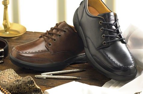 Eric Dress and Comfort Orthopedic Shoes for Men - Bark | Mobiliexpert.com