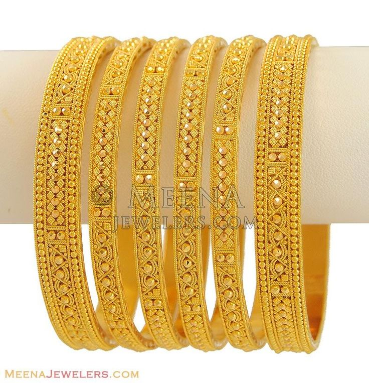 22Kt Indian Bangles (Set of 6) ( Set of Bangles )