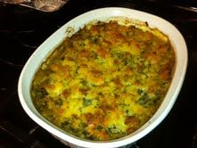 "Easy Cornbread Casserole		  		  			  				  		User Rating: / 0    PoorBest 	  				  				  		1 large can seasoned turnip greens (Glory brand is best)  1 can cream of mushroom soup  ½ cup frozen diced onions  6 frozen Red Gingham Gourmet  ""Jalapeno Cornbread"" muffins (thawed and crumbled)  1 stick butter     In a large bowl combine turnip greens and juice, mushroom soup, onions &  5 crumbled ""Jalapeno cornbread"" muffins. Stir to combine and place in a greased 11 x 7 x 2 inch casserole dish. Top…"