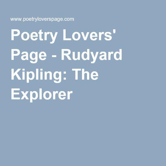 kipling the explorer