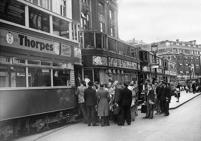Staff from Stockholm Transport visiting London Transport 1948