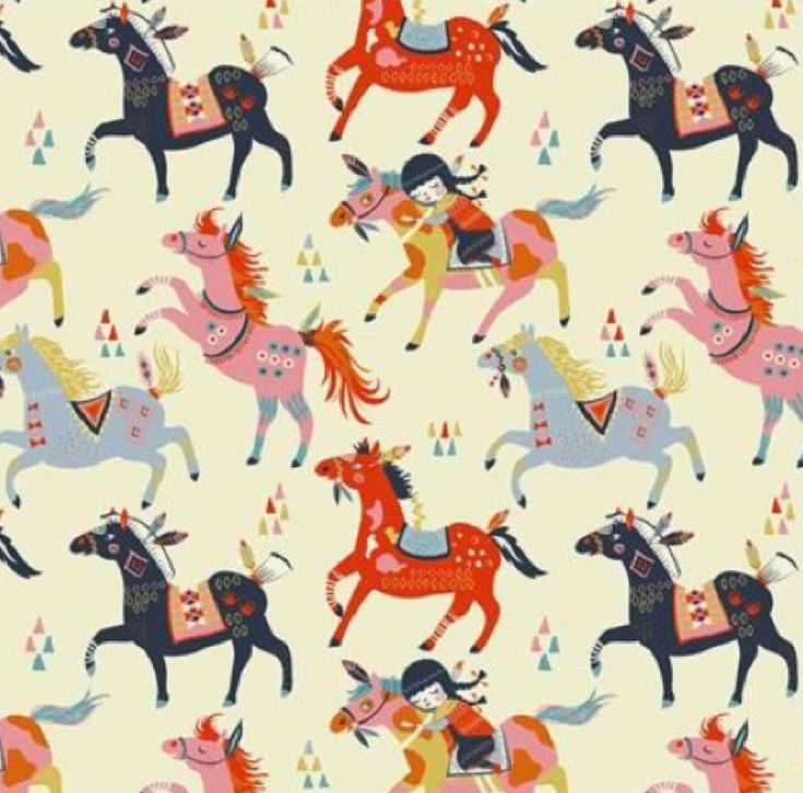 56 best patterns design images on pinterest prints for Horse fabric for kids