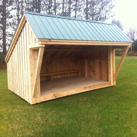Best 10×14 Lean To – Built With Post And Beam Hemlock Frame 400 x 300
