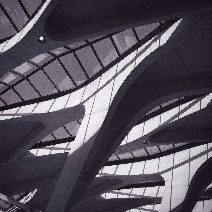 Lyon St Exupéry Airport by Santiago Calatrava | Photo by Mathilda Perrot | http://tydart.tumblr.com