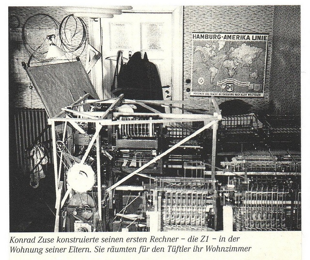 Scan of an old press clipping (with original caption).    Konrad Zuse (1910-1995) was one of the great pioneers of computing technology. Between 1936 and 1938 he quit his job to build his first computer, the Z1, a programmable binary electrically drive Wanting to know how to plan for your retirement and ensure you are financially secure.  A retirement planning guide is a must.  Click the link below to prepare and plan for your retirement
