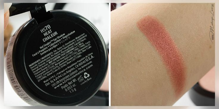 Nyx Hot Single Eyeshadow Heat Swatch All About