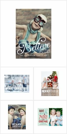 Personalized Photo Christmas Cards for Merry Christmas and Happy Holiday greetings this winter! Add your own custom text, family Christmas letter, and custom photos. #Christmas